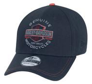 Harley-Davidson Men's Genuine Trademark 39THIRTY Cap Hat, Black. 99424-16VM - Wisconsin Harley-Davidson