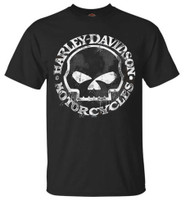 Harley-Davidson Men's T-Shirt, Hand Made Willie G Skull Distressed 30294030 - Wisconsin Harley-Davidson