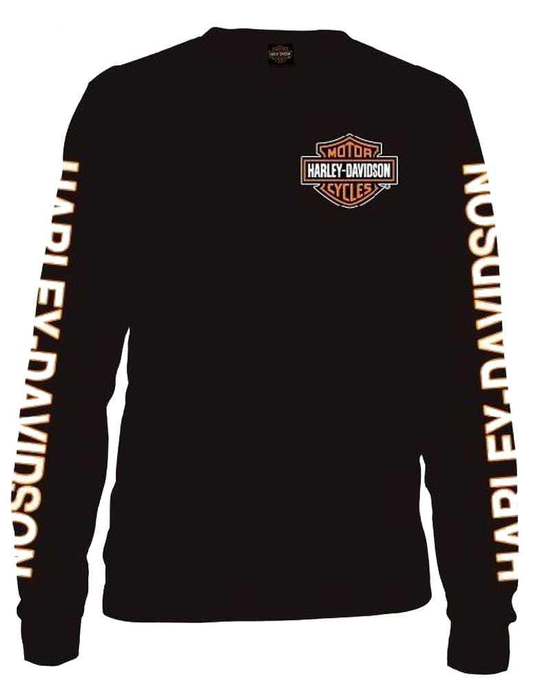 3700c4df27 ... Shirt 30291744 - Wisconsin Harley. Harley-Davidson Free Shipping -  Harley-Davidson Men s Long Sleeve Orange Bar   Shield. See 1 more picture