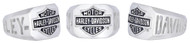 Harley-Davidson Men's H-D Cut Out Bar & Shield Emblem Ring, Silver HDR0327 - Wisconsin Harley-Davidson
