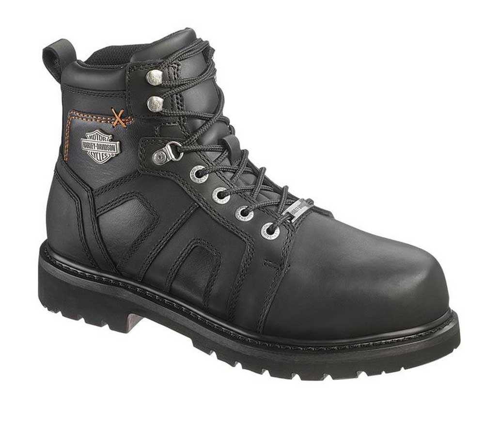 8e9c1ab7eb8225 Harley-Davidson Men s Chad Steel Toe 5-In Black Motorcycle Boots. D93176 -.  See 3 more pictures