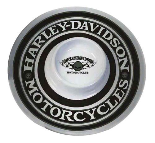 Harley-Davidson Chip N Dip Flaming Willie G Skull Melamine Tray, 12 In HD-HD-911 - Wisconsin Harley-Davidson
