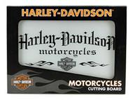 Harley-Davidson Motorcycle Tempered Glass Cutting Board w/ Handles HDL-18504 - Wisconsin Harley-Davidson