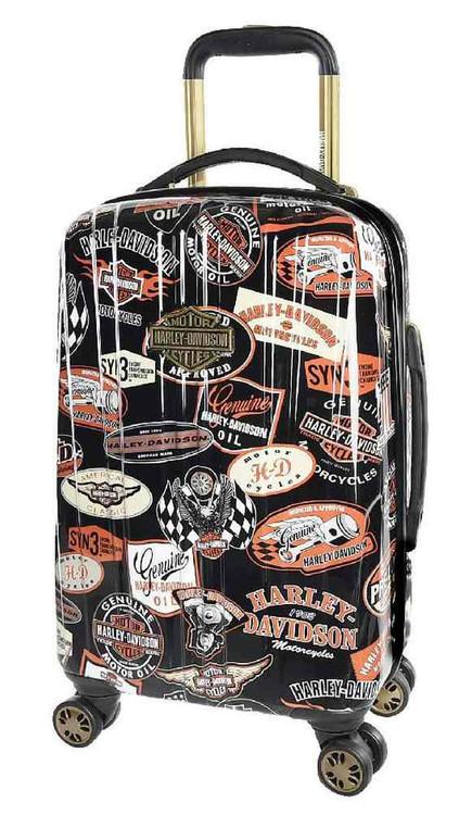 Harley-Davidson 18 Inch Vintage Carry-On Spinner Wheels Luggage, Black 99918-VIN - Wisconsin Harley-Davidson