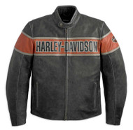 Harley-Davidson Men's Victory Lane Leather Jacket 98057-13VM - Wisconsin Harley-Davidson