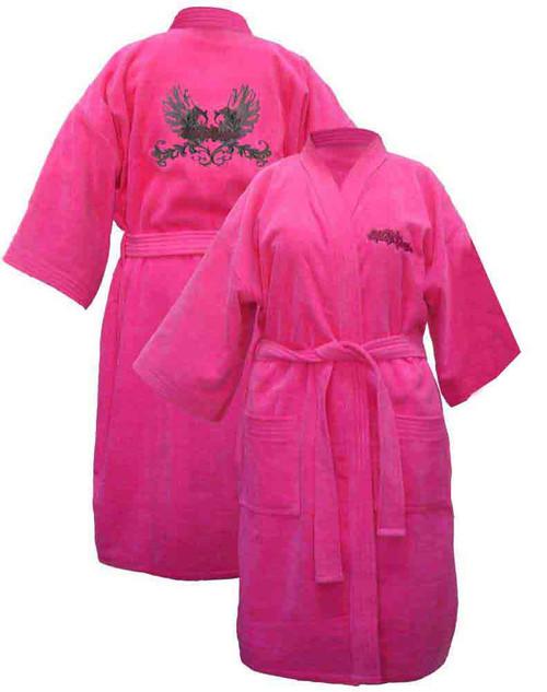 Harley Davidson Women's Pink Winged Kimono Robe Bathrobe 4746 - Wisconsin Harley-Davidson