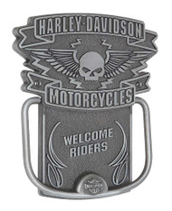 Harley-Davidson Door Knocker, Winged Willie G. Skull Knocker, Silver HDL-10097 - Wisconsin Harley-Davidson