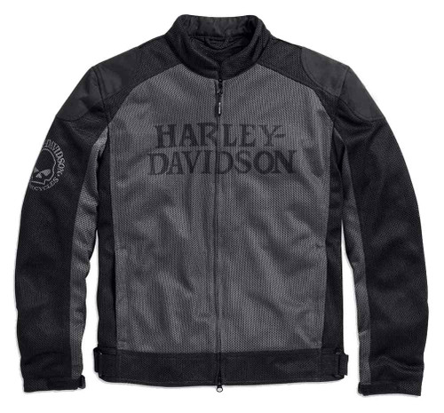 Harley-Davidson Men's Riding Mesh Jacket, Willie G. Skull, Black 98092-15VM - Wisconsin Harley-Davidson
