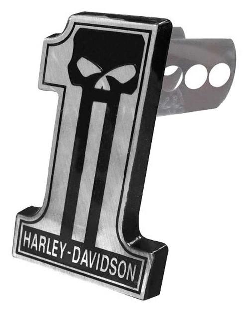Harley-Davidson Dark Custom #1 Skull Hitch Plug, Universal 2 & 1.25 Inch 2301 - Wisconsin Harley-Davidson
