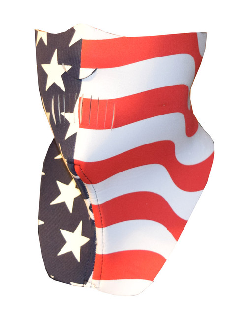 Half Face Riding Mask, American Flag, Motorcycle & ATV Cold Weather Mask 502F - Wisconsin Harley-Davidson