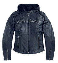 Harley-Davidson Women's Miss Enthusiast 3 in 1 Leather Jacket 98030-12VW - Wisconsin Harley-Davidson