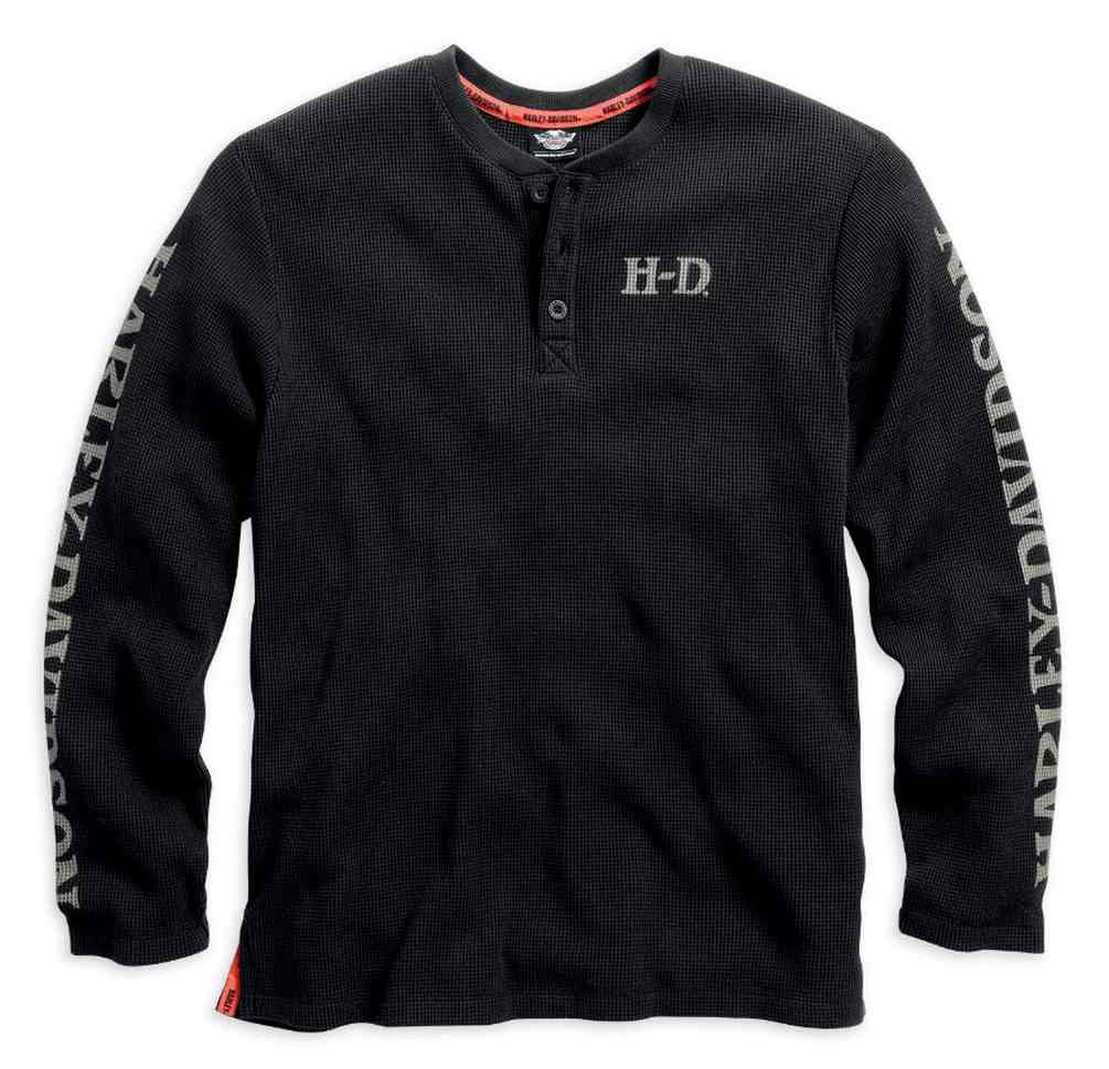70997f89 Harley-Davidson® Men's Waffle Knit Tee, Willie G Skull Henley, Black ...