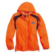 Harley-Davidson Womens Hi-Vis Orange Rain Suit Waterproof Jacket/Pant 98316-14VW - Wisconsin Harley-Davidson