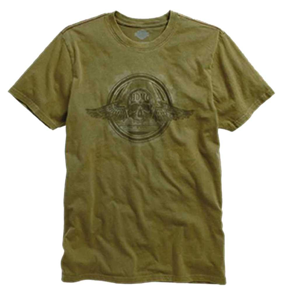 bf0bf53f Harley-Davidson Winged Skull Short Sleeve T-Shirt, Dark Olive. 96188-.  Click to enlarge