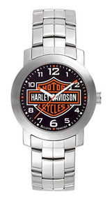 Harley-Davidson Men's Bulova Bar & Shield Wrist Watch 76A019 - Wisconsin Harley-Davidson