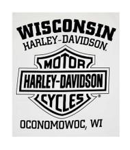 Harley-Davidson Men's Willie G Skull Tank Top, White Muscle T-Shirt 30296645 - Wisconsin Harley-Davidson