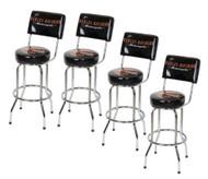 Harley-Davidson Bar & Shield Bar Stool With Back Rest HDL-12204 SET OF 4 - Wisconsin Harley-Davidson