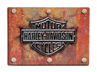 Harley-Davidson Made Plate Bar & Shield Tin Sign 17 x 12.5 Rust Look 2010831 - Wisconsin Harley-Davidson