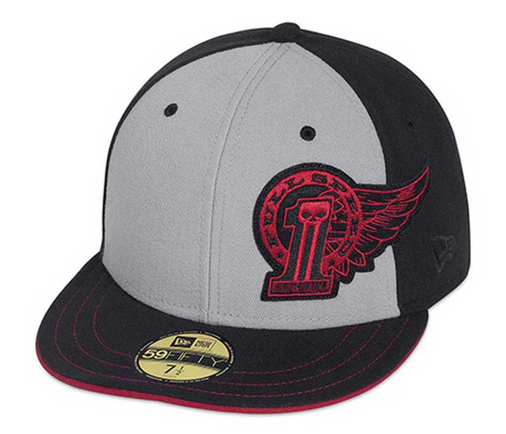 9fc460d3b Harley-Davidson® Men's Winged #1 59Fifty Baseball Hat Cap, Gray/Black.  99406-15VM