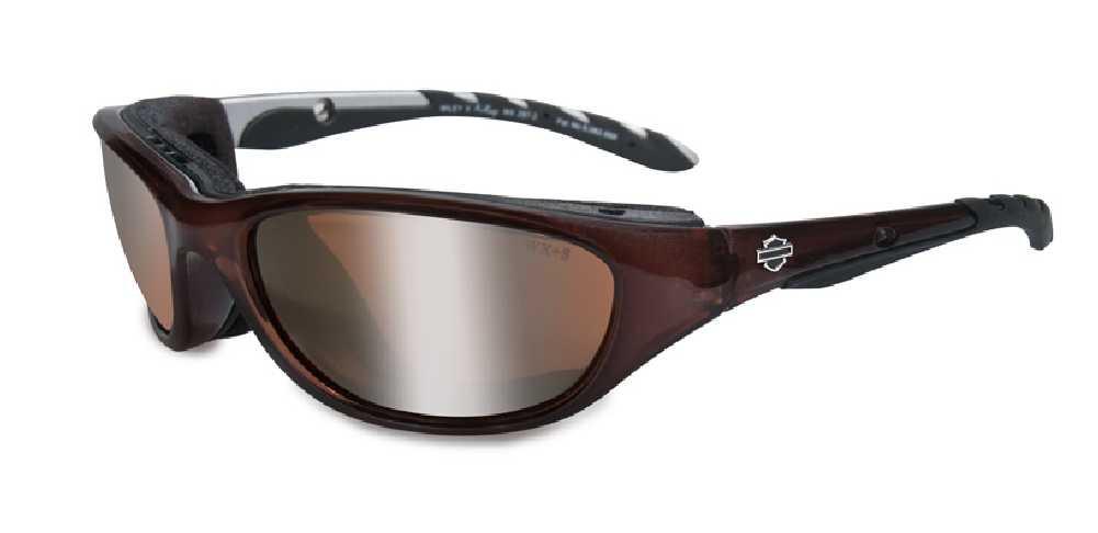 6f4842e11cfbb Harley-Davidson Airrage Bronze Lens w  Crystal Bronze Frame Sunglasses  HD695 - Wisconsin Harley