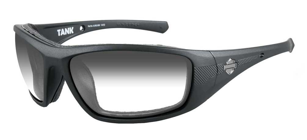 b45e6904c74d Harley-Davidson Men's Tank Sunglasses, Smoke Gray Lens/Matte Black Frame  HDTAN05 -