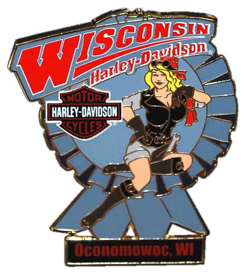 Harley-Davidson Blue Ribbon Lady Pin RIBBON - Wisconsin Harley-Davidson