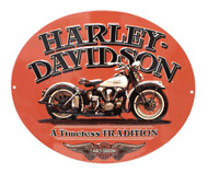 Harley-Davidson Embossed Timeless Vintage Motorcycle Tin Sign, Orange 2010781 - Wisconsin Harley-Davidson
