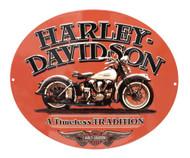 Harley-Davidson Embossed Timeless Vintage Motorcycle Tin Sign, Orange 2010781 - Wisconsin Harley-Davidson