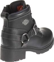 Harley-Davidson Women's Tegan 4-Inch Black Lace-Up Boots. D84424 - Wisconsin Harley-Davidson