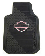 Harley-Davidson Pink Bar & Shield Factory Front Floor Mats Set of 2 Black P1384P - Wisconsin Harley-Davidson