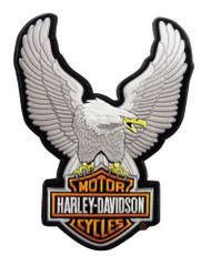 Harley-Davidson Eagle Winged Large Silver Patch, 7-3/4'' x 10-1/4'' EMB328064 - Wisconsin Harley-Davidson
