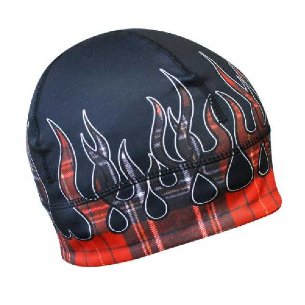364d89ff10b Missing Link Red Flames Flannel GasCap Beanie Hat Skull Cap GCRF ...