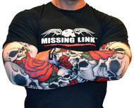 Missing Link SPF 50 Bones N Roses ArmPro Tattoo Compression Sleeves - APBR - Wisconsin Harley-Davidson