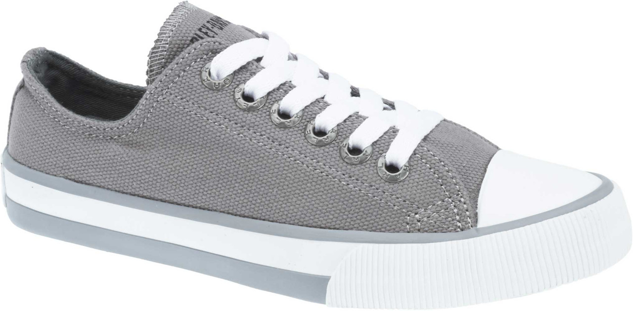b7cc48dbcc74 Harley-Davidson® Women s Zia 2-Inch Low-Cut Grey Canvas Sneakers ...