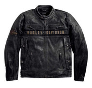 Harley-Davidson Men's Passing Link Triple Vent Leather Jacket 98074-14VM - Wisconsin Harley-Davidson