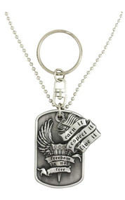 Harley-Davidson Dog Tag, Freedom Is Not Free Bar&Shield Chain/Key Chain 8002855 - Wisconsin Harley-Davidson