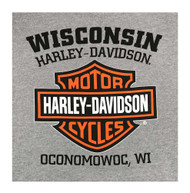 Harley-Davidson Men's Hooded Sweatshirt, Willie G Skull, Gray Hoodie 30296654 - Wisconsin Harley-Davidson