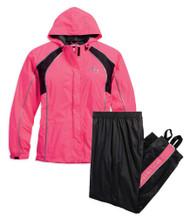 Harley-Davidson Women's Hi-Vis Reflective Rain Suit, Pink/Black. 98362-15VW - Wisconsin Harley-Davidson