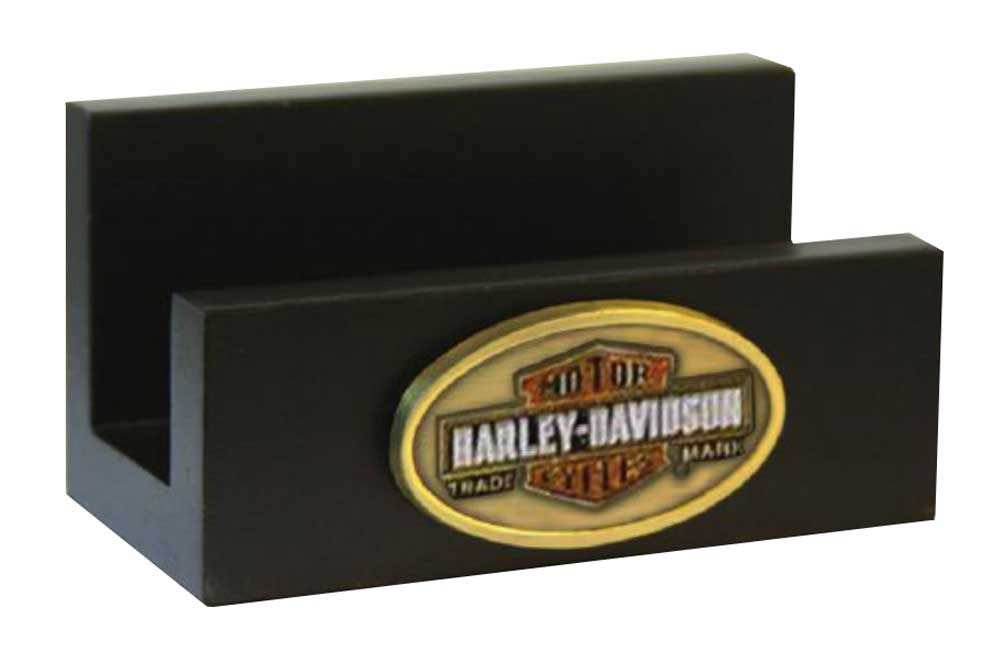 Harley-Davidson Trademark Bar   Shield Medallion Business Card Holder  HD-HD-1446 4df000ecfc47