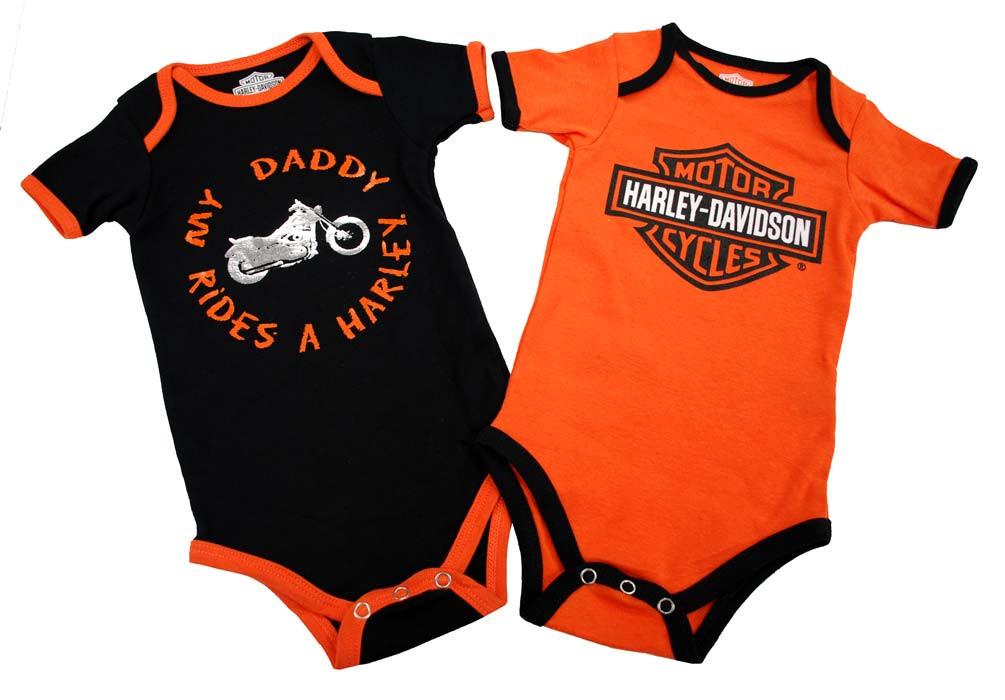 b288f3727 Harley-Davidson® Baby Boys' Daddy Rides A Harley Creeper 2-Pack ...