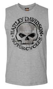Harley-Davidson Men's Willie G Skull Muscle Tank Top Sleeveless Tee 30296650 - Wisconsin Harley-Davidson