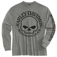 Harley-Davidson Little Boys' Tee, Long Sleeve Willie G Skull Shirt, Gray 1580509 - Wisconsin Harley-Davidson