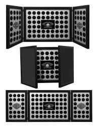 Harley-Davidson Tri-Fold Poker Chip Collectors Frame, Holds 88 Chips, Black 6973 - Wisconsin Harley-Davidson