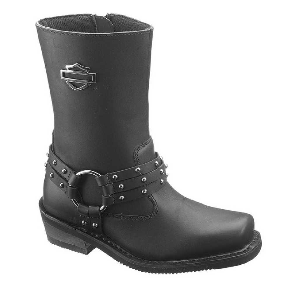 ca49eef67606 ... Women s Rosa Inside Zipper Black Boots. D87019 - Wisconsin Harley- Davidson. Click to enlarge