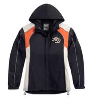 Harley-Davidson Womens Moxie Rain Suit Waterproof Jacket/Pant BLK/ORG 98315-14VW - Wisconsin Harley-Davidson
