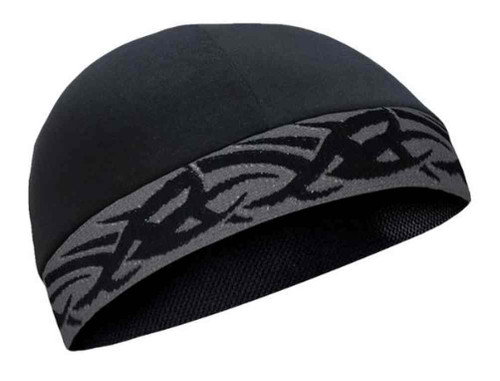 That's A Wrap Unisex Performance CoolMax Black & Grey Tribal Cool Cap CMCC01 - Wisconsin Harley-Davidson