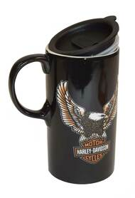 Harley-Davidson Travel Latte Mug, Bar & Shield Eagle Tall Boy, 21 oz. 3TBT4907 - Wisconsin Harley-Davidson