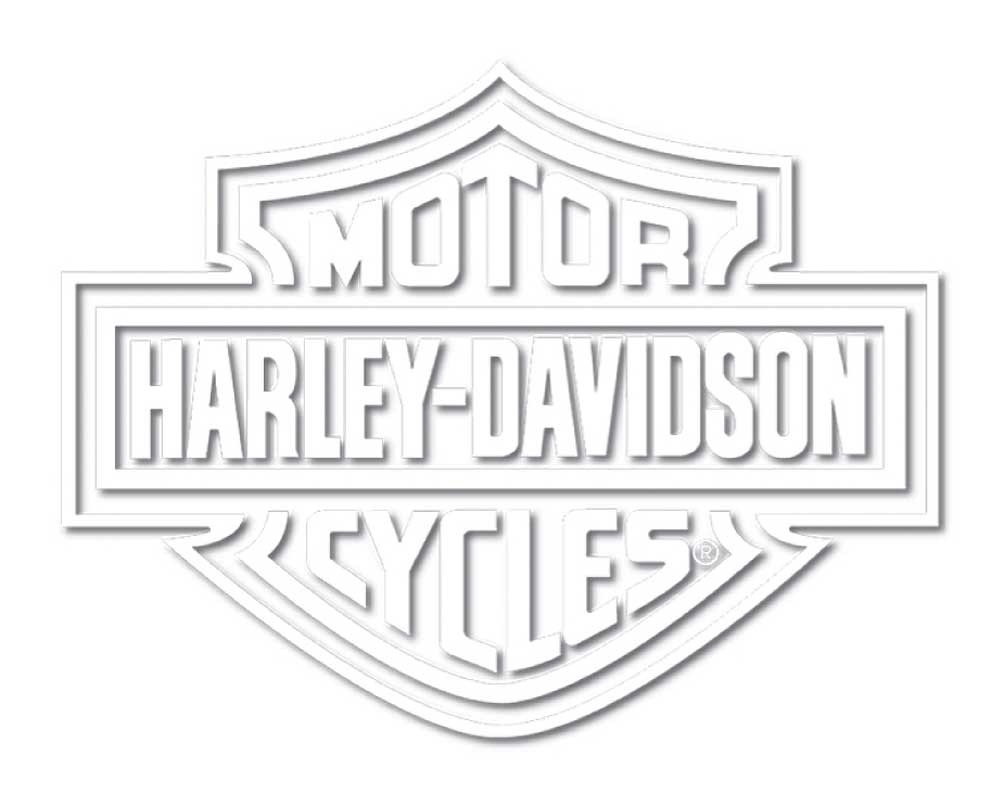 Harley davidson white bar shield die cutz window decal cg4311 wisconsin harley