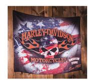 Harley-Davidson Flaming Skull Americana Estate Flag, 36 x 52 inches 17S4906 - Wisconsin Harley-Davidson