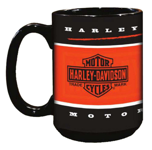 Harley-Davidson Branded Bar & Shield Coffee Mug, 15 oz. Black HD-BRN-2004 - Wisconsin Harley-Davidson